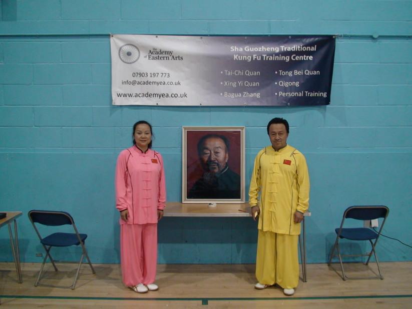 Grandmaster Sha Junjie and Li Bin